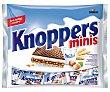 Mini barritas de barquillo rellenas con crema de leche y praliné cubiertas de chocolate 200 g Knoppers