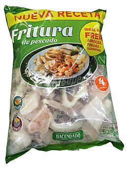 HACENDADO Fritura pescado congelado (tintorera, abadejo, anilla pota, chipiron,langostino y merluza) Paquete de 700 g