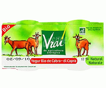 Vrai Yogur Cabra Natural Ecológico 2x125g