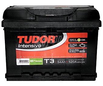 TUDOR Batería de arranque T3 12 Voltios 54Ah , potencia de arranque: 520 Amperios 1 unidad