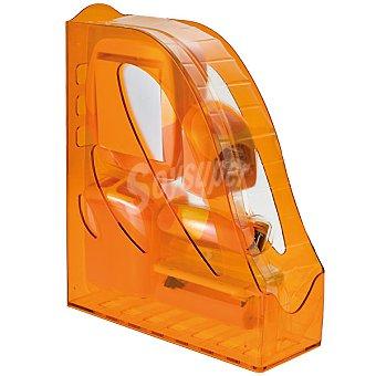 set de oficina en color naranja flúor