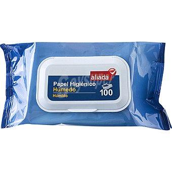 Aliada Papel higiénico húmedo Envase 100 unidades