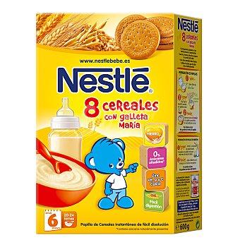 Nestlé Papilla en polvo 8 cereales con galleta maría, a partir 6 meses Caja 600 g