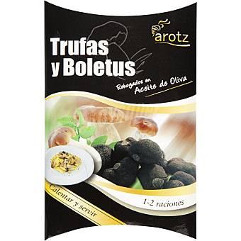 Arotz Trufas y boletus rehogados en aceite de oliva calentar y servir Estuche 100 g