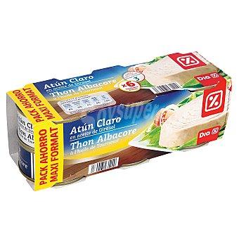 DIA Atun claro en aceite de girasol Pack de 6 latas x 52 grs