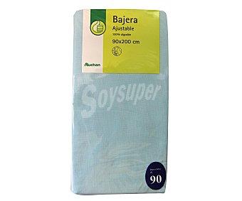 PRODUCTO ECONÓMICO ALCAMPO Sábana bajera 100% algodón, color azul 30x22x90 centímetros 1 Unidad