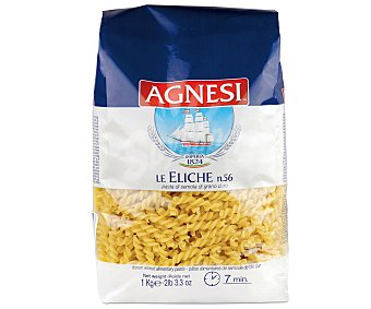 AGNESI Pasta de sémola Le eliche (forma de hélice) 1 kilogramo