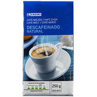 Eroski Café molido descafeinado natural Paquete 250 g