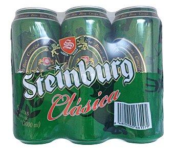 Steinburg Cerveza rubia Lata pack 6 x 50 cl - 300 cl