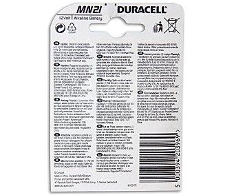 Duracell Pilas Alcalinas MN21 3LR50 Especiales para Alarmas de Coche y Dispositivos de Seguridad 12V 2 Unidades