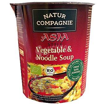 Natur Compagnie Sopa de verduras y fideos estilo asiatico bio ecológica Vaso 55 g