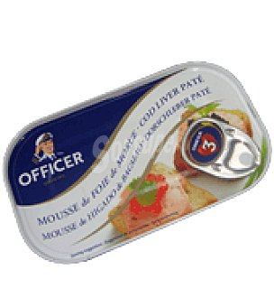 Officer Mousse bacalao 115 g