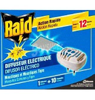 Raid Insecticida recabio 10 unidades