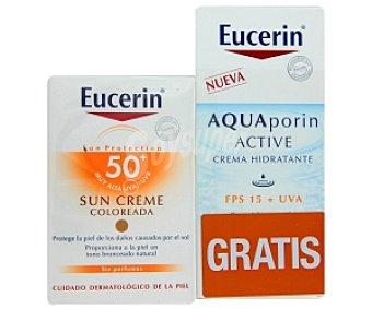 Eucerin Crema protección solar coloreada FP50 + Crema hidratante FP15 50 ml