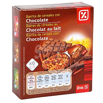 DIA Barritas de cereales muesli con chocolate estuche 150 gr 6 barritas (150 g)