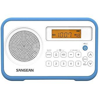 SANGEAN PR-D18 Rádio despertador portátil en color azul y blanco