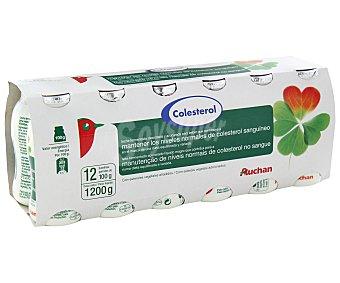 Auchan Yogur líquido natrual, que ayuda a controlar el colesterol 12 x 100 gr