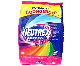Neutrex Quitamanchas en polvo oxy 5 color. 900 Gramos