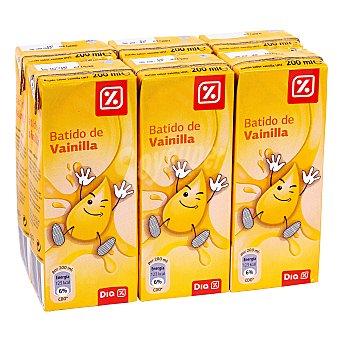 DIA Batido vainilla Pack 6 unidades 200 ml
