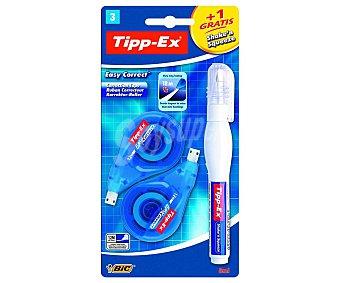 Tipp-Ex 2 cintas correctoras de 12 m y 4.2mm + 1 corrector en formato bolígrafo Shake´n´squeeze shake´n & squeeze