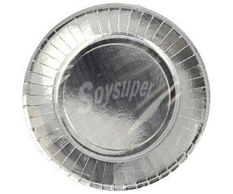 Actuel Platos llanos desechables color plata, 23 centímetros de diámetro 10 unidades