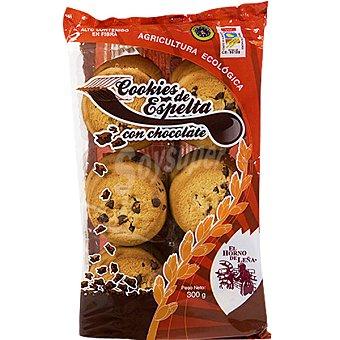 EL HORNO DE LEÑA Cookies de espelta con chocolate ecológicas Envase 300 g