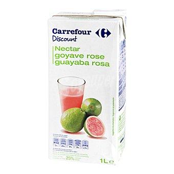 Carrefour Discount Néctar de guayaba Brick de 1 l