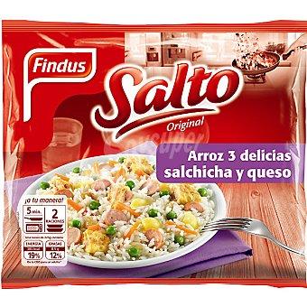 Findus Arroz 3 delicias-salchichas-queso Bolsa 450 g