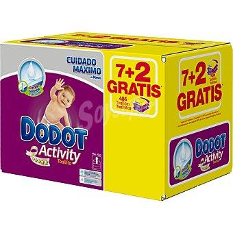 Dodot Activity Toallitas infantiles + 2 envases 54 unidades gratis Pack 7 envases 54 unidades