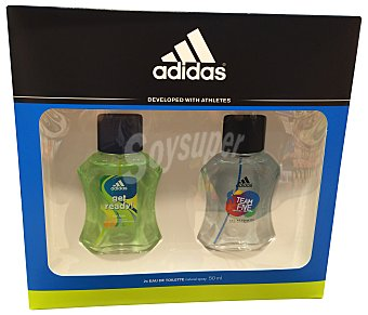 ADIDAS Lote hombre Adidas duplo eau de toilette 50 ml Get Ready + eau de toilette 50 ml Team Five 1 pack