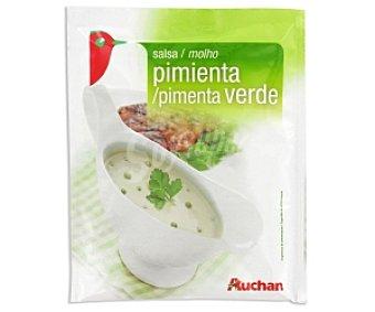 Auchan Salsa de Pimienta Verde Sobre 60 Gramos