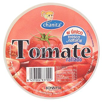 Chanita Tomate natural rallado Tarrina 290 g
