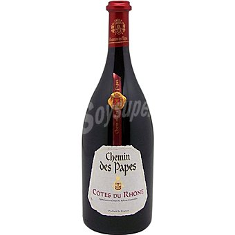 Pasquier Chemin des Papes vino tinto de Francia Botella 75 cl