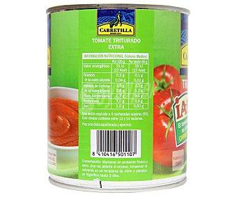 CARRETILLA Tomate natural triturado 800 Gramos
