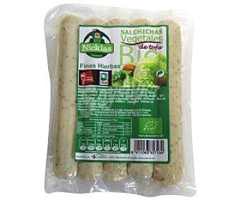 Nicklas Salchichas de tofu de cultivo ecológico a las finas hierbas 200 gramos