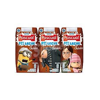PASCUAL Batido de cacao pack 3 envases 200 ml