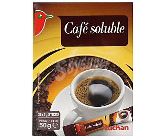 Auchan Café natural soluble 25 sobres