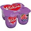 Yogur desnatado sabor frutas del bosque pack 4 unidades 125 g Vitalínea Danone