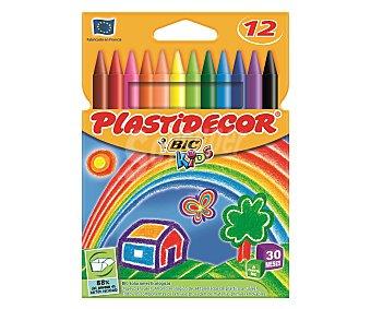Bic Pinturas de diferentes colores plastidecor Caja de 12 unidades