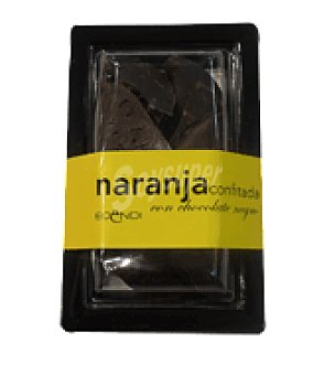 Naranja confitada con chocolate negro Bandeja 170 g