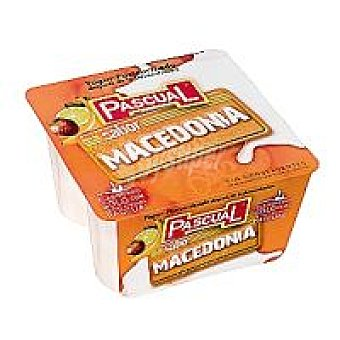 Pascual Yogur de macedonia Pack 4x125 g
