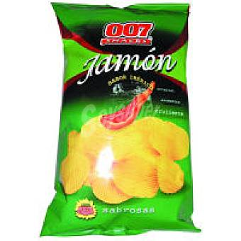 007 Snacks Patatas onduladas al jamón Bolsa 130 g