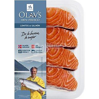 OLAV'S Lomitos de salmón fresco 4 unidades ( bandeja 180 g)