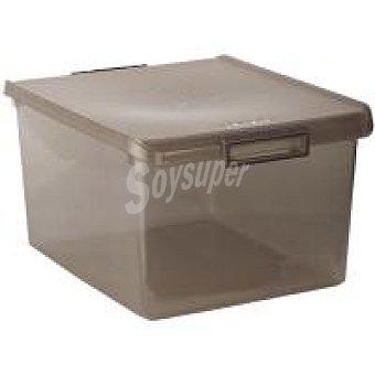 Caja de plástico con tapa color Fume 35 litros