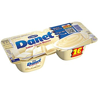 Danet Danone Natillas de chocolate blanco Pack de 2x115 g