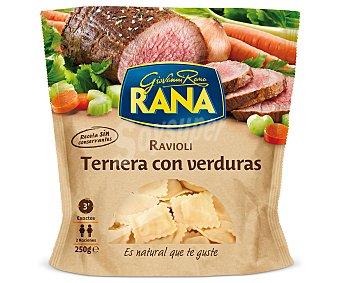 Rana Ravioli de ternera con verdura Sobre 250 g
