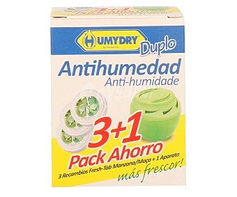Humydry Ambientador antihumedad más 3 recambios con aroma manzana 1 unidad