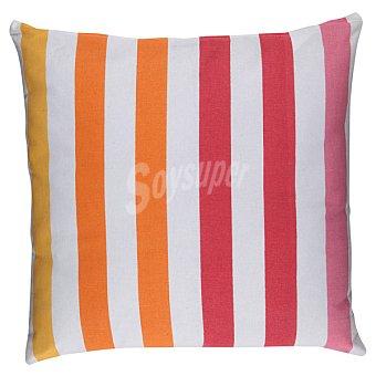 CASACTUAL Cojín Geométrico en color naranja