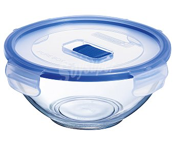 Luminarc Recipiente hermético redondo de vidrio templado Pure Box, , 15cm. luminarc 0,9 litros