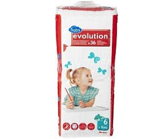 Auchan Pañales Aprendizaje Evolution para Niños de 16 a 26 Kilogramos 36 Unidades